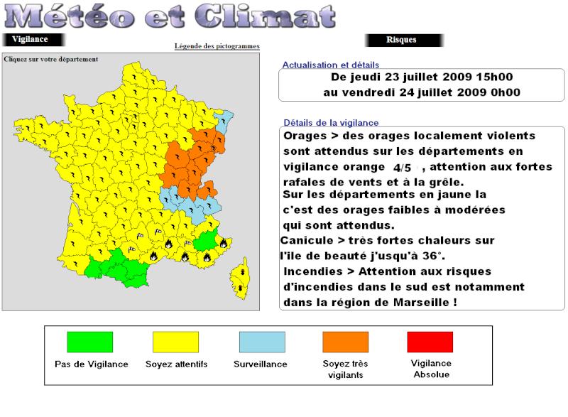 Alerte orange aux orages sur l est de la france meteo et climat - L est de la france ...