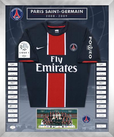 Le cadre maillot psg edition limit e - Cadre maillot de foot ...
