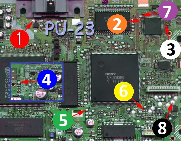 TUTO]schémas pose modchips PS1 - darius-saturn com