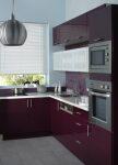 Besoin de conseils pour la cuisine for Cuisine mur aubergine