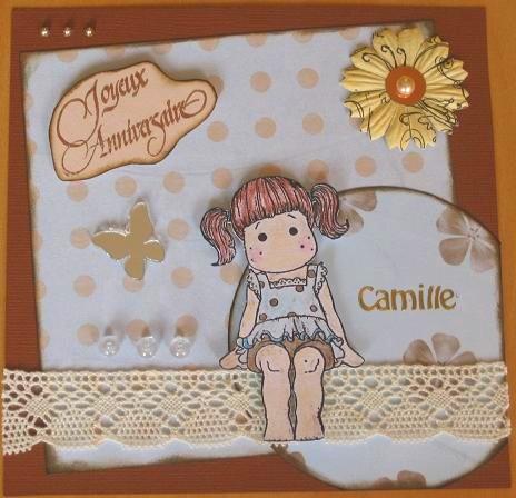 Carte d 39 anniversaire camille la maison de naty - Carte anniversaire petite fille ...