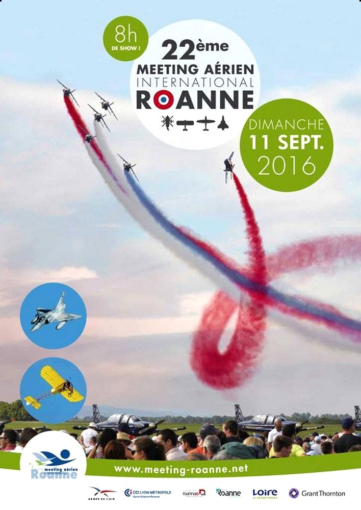 Meetin Aerien de Roanne 2016,Le 22 ème MEETING AERIEN INTERNATIONAL ROANNE, Aerodrome de Roanne 2016 , Meeting Aerien 2016,Airshow 2016, French Airshow 2016