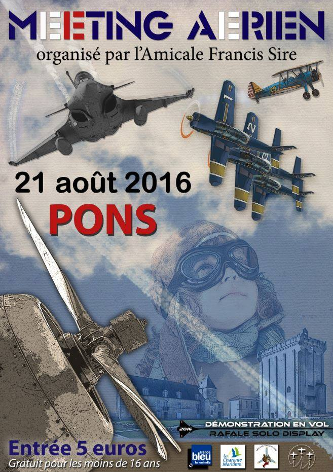 Meeting Aerien de Pons avy 2016, Rafale solo Display 2016 , Meeting Aerien 2016, Airshow 2016, French Airshow 2016