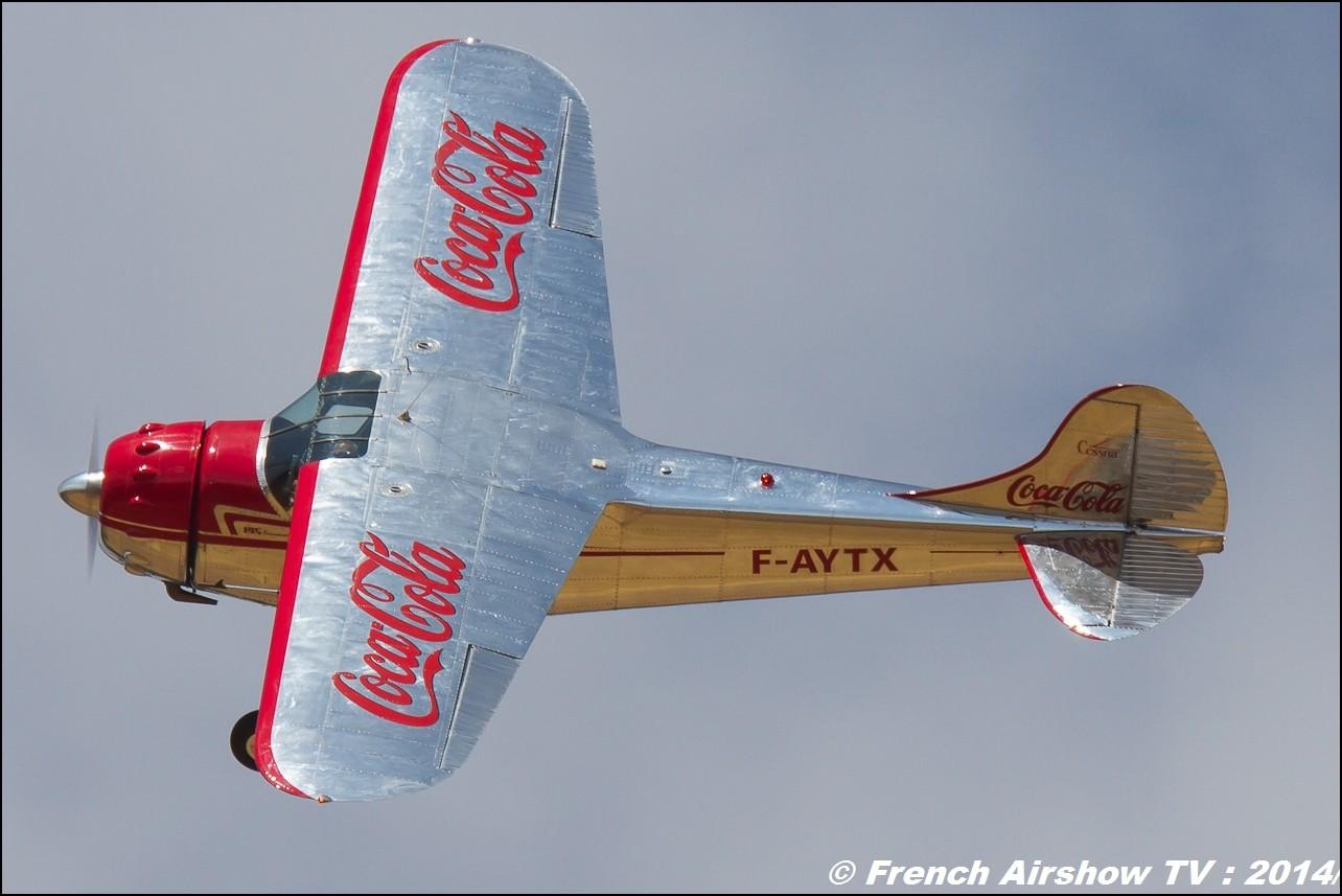 Cessna 195 Coca'Cola , F-AYTX, fougair , l'escadrille Foug'air , display Cessna f-aytx ,Coca cola ,photos , info , french airshow tv
