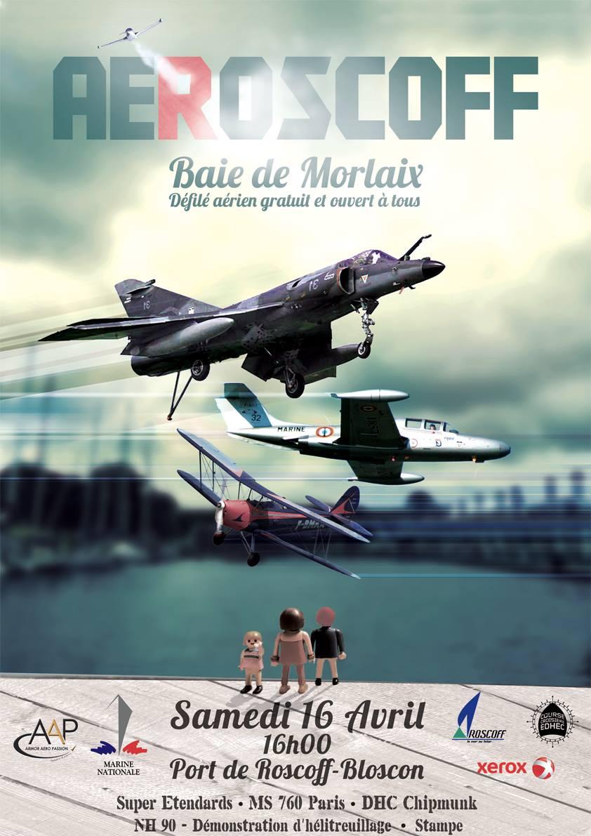 AEROSCOFF 2016,défilé aerien 2016,Course Croisière EDHEC 2016, Roscoff-Baie de Morlaix, French Airshow 2016