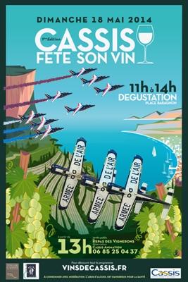 Cassis Fête son Vin 2016 ,Patrouille de france 2016, Cartouche doré, French Airshow 2016
