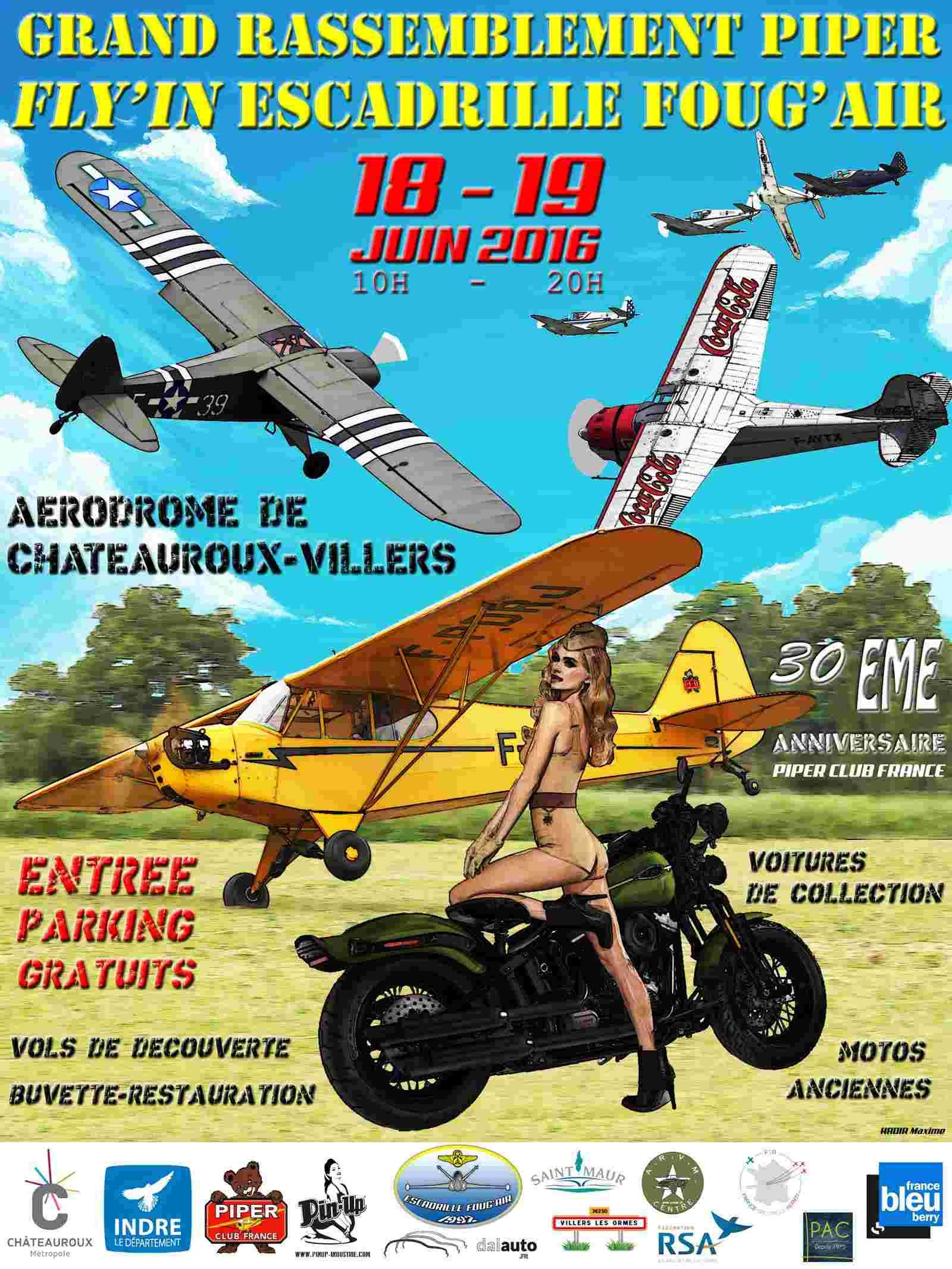 FLY-IN Escadrille Foug'Air 2016, 18-19 Juin Fête Aérienne Légend'Air,fly in 2016 ,Aerodrome de Chateauroux, Meeting Aerien 2016,Airshow 2016, French Airshow 2016