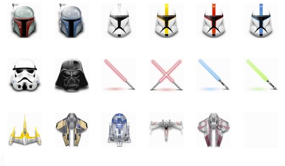 Icones de star wars - Vaisseau de dark vador ...