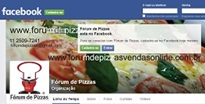 FAN PAGE DO FÓRUM DE PIZZAS NO FACEBOOK