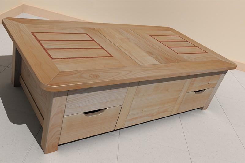table basse louis caisse. Black Bedroom Furniture Sets. Home Design Ideas