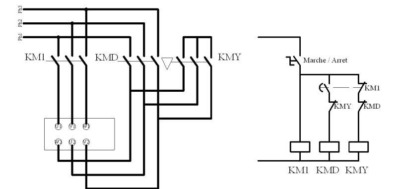 schema electrique couplage etoile triangle