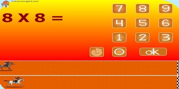 01 activites gratuites en ligne - Table de multiplication course de chevaux ...