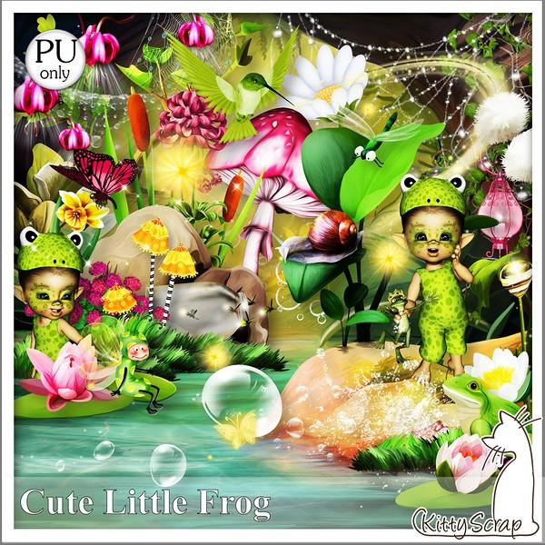 Cute little frog de Kittyscrap dans Avril kittys15