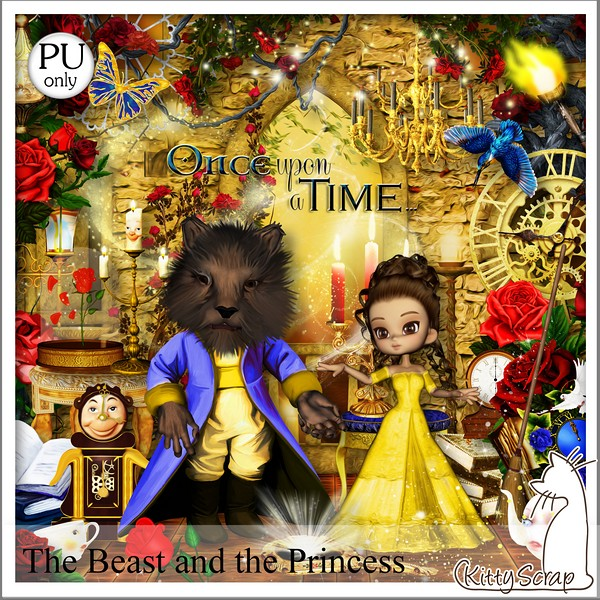 The beast and the princess de Kittyscrap dans Avril kittys19