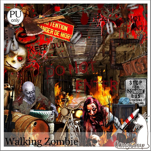 Walking zombie de Kittyscrap dans Mai kittys34