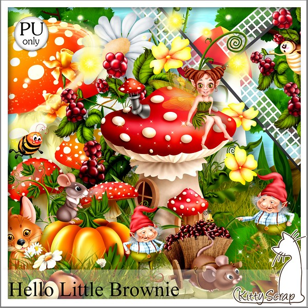 Hello little brownie de Kittyscrap dans Mai kittys41
