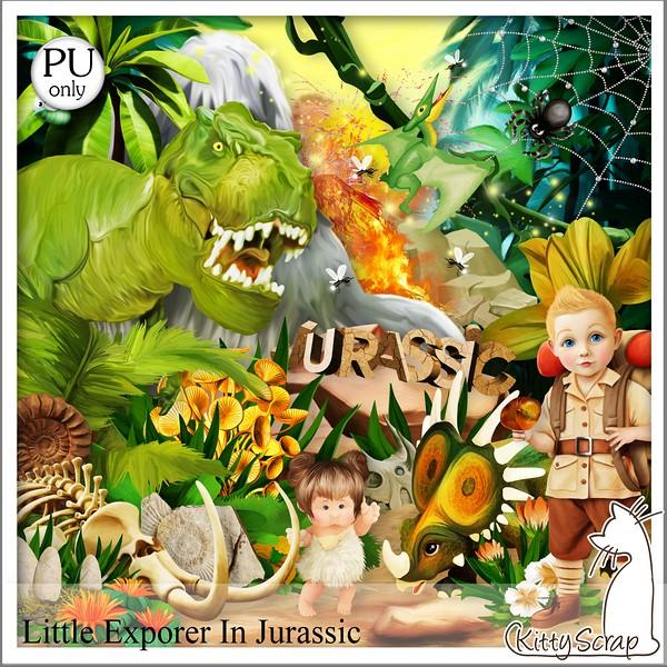 Little explorer in Jurassic de Kittyscrap dans juin kittys48