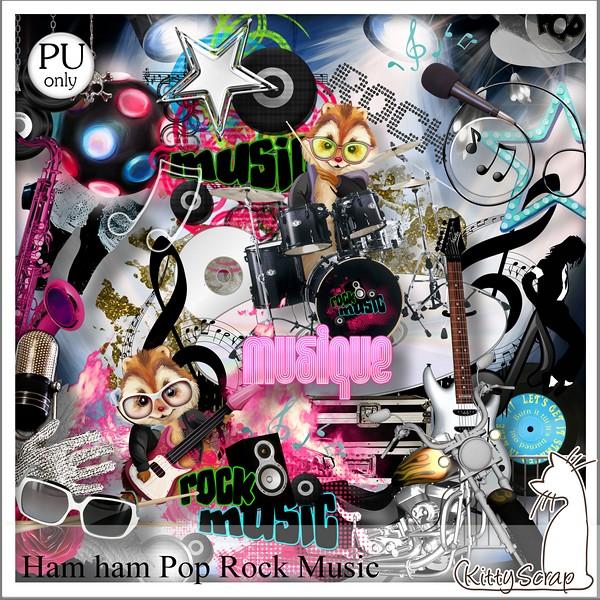 Ham ham pop rock music de KittyScrap dans juin kittys51