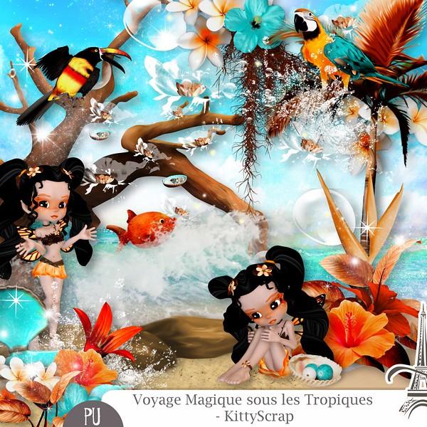 Voyage magique sous les tropiques de Kittyscrap dans Août previe10