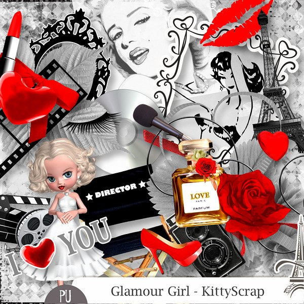 Glamour girl de Kittyscrap dans Mai previe45