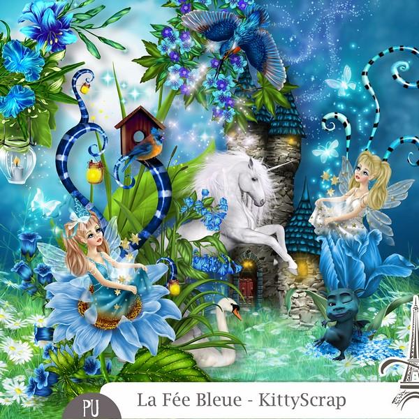 La fée bleue de Kittyscrap dans juin previe55