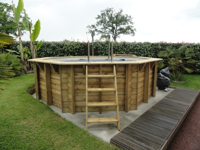 montage piscine hors sol bois ubbink 430 cm. Black Bedroom Furniture Sets. Home Design Ideas