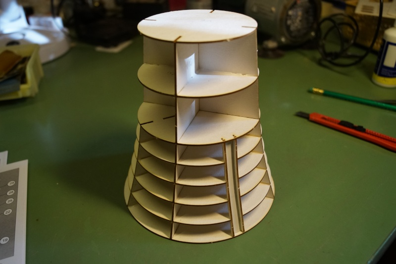 Die Küchenetage ~ der leuchtturm roter sand im maßstab 1 72 gebaut von guennie