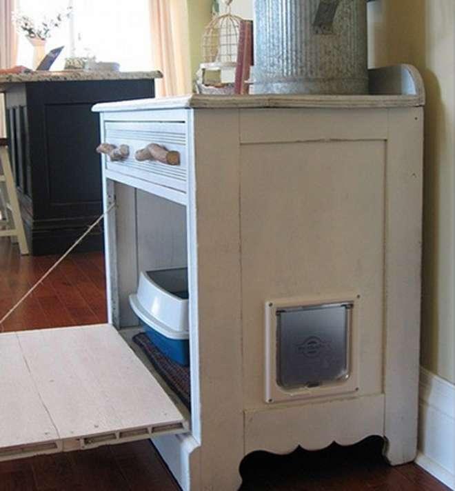 cacher joliment les liti res. Black Bedroom Furniture Sets. Home Design Ideas