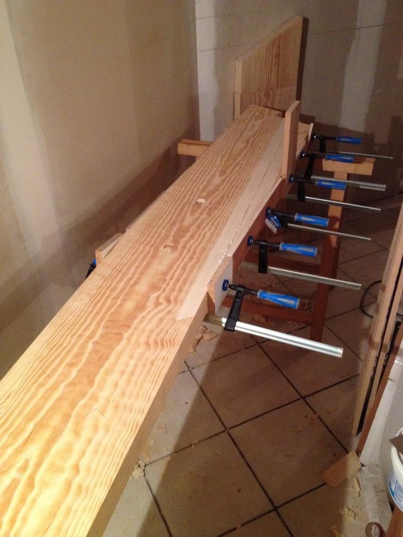 Tournage bois escalier provisoire devenu d finitif en pin sylvestre doub - Escalier fixe au mur ...