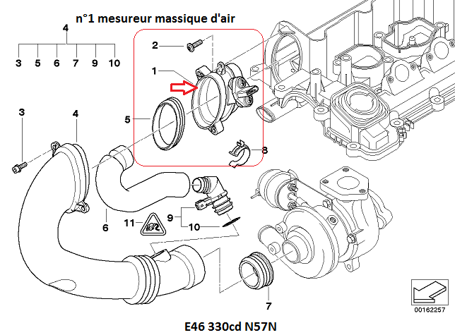 bmw e46 330cd m57n an 2004   voyant moteur   r u00e9solu