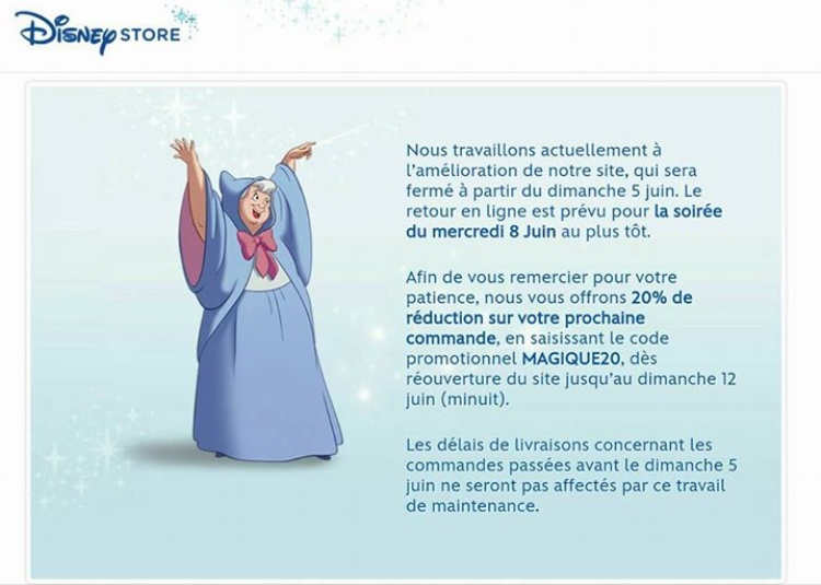 Les promotions et codes de r duction sur disney store - Code reduction trigano store ...