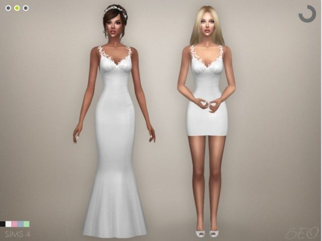 Sims 4 robe de mariee