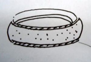 Minh họa những vị trí sẽ được dán decal khi phun cát lên nhẫn
