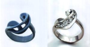 Một chiếc nhẫn từ sáp thành thật.