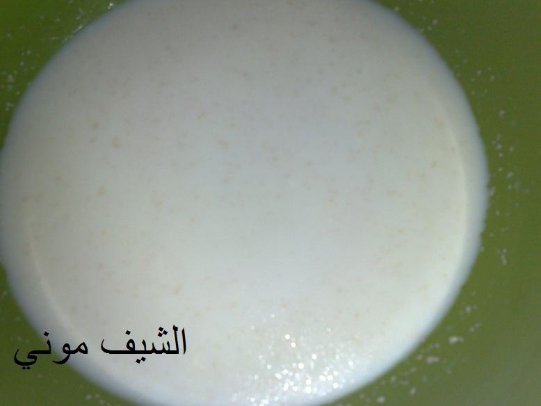 وسهل المكونات: 6 كوب دقيق 2 كوب حليب دافئ ملعقة